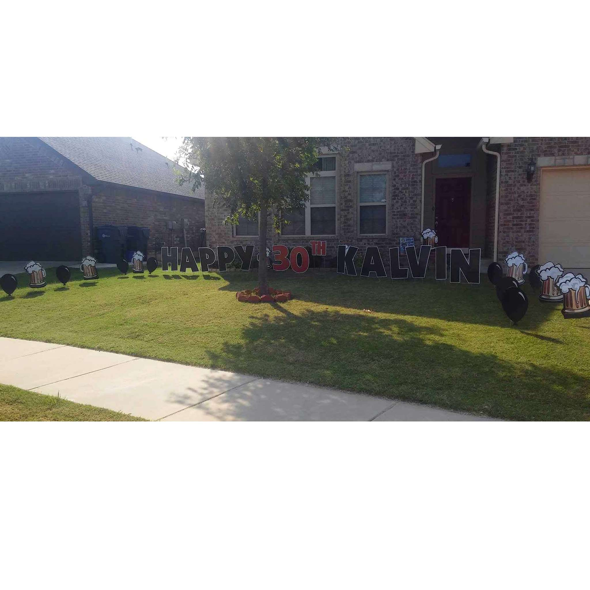 Balloons Black Yard Signs Oklahoma Smiles For All Occasions