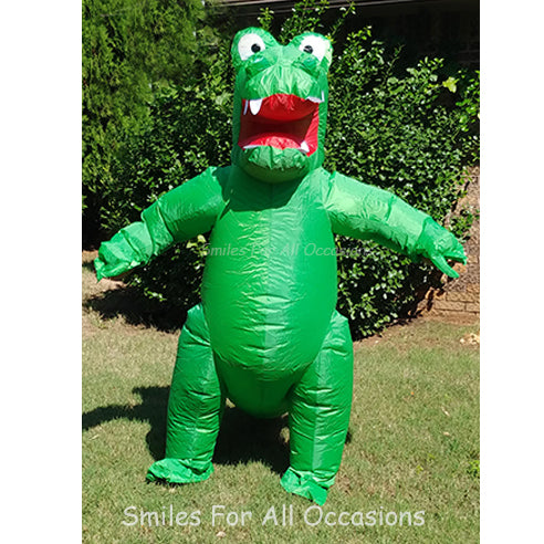 Blow Up Green Alligator Singing Telegram