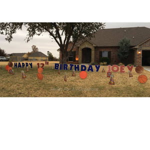 12th Birthday Basketball Signs Displays