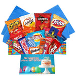 Birthday Gift Box Care Package Blue