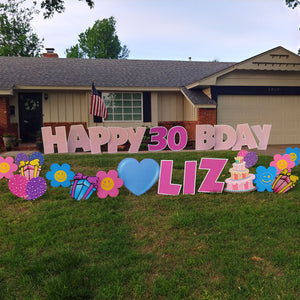 Fun Birthday Yard Signs