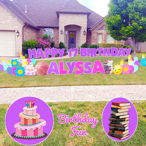 Books Cake Birthday 17th Signs