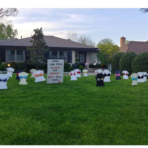 We support you turning-Real Bra Yard Signs-Birthday