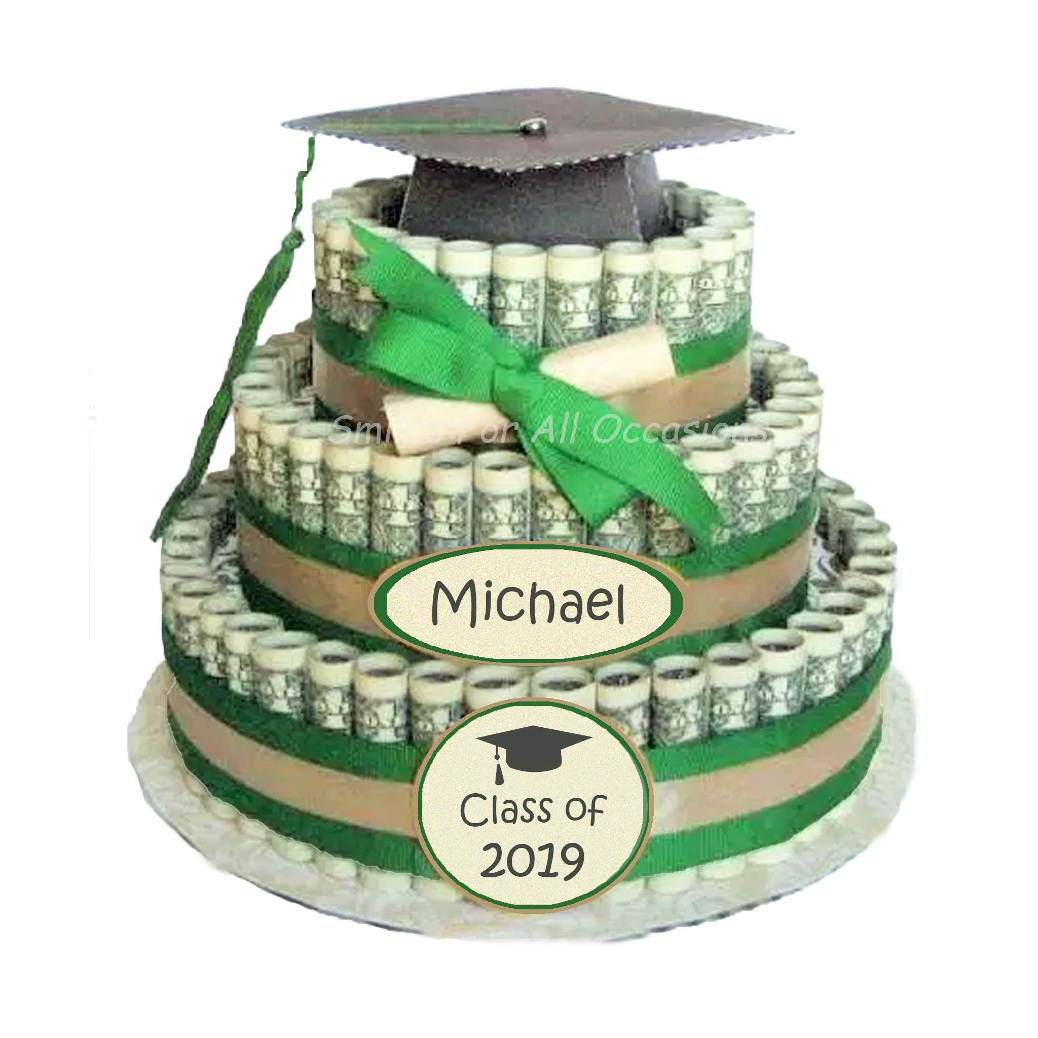 Cash Money Graduation Cake
