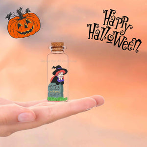 Halloween Witch Princess Mini Bottle