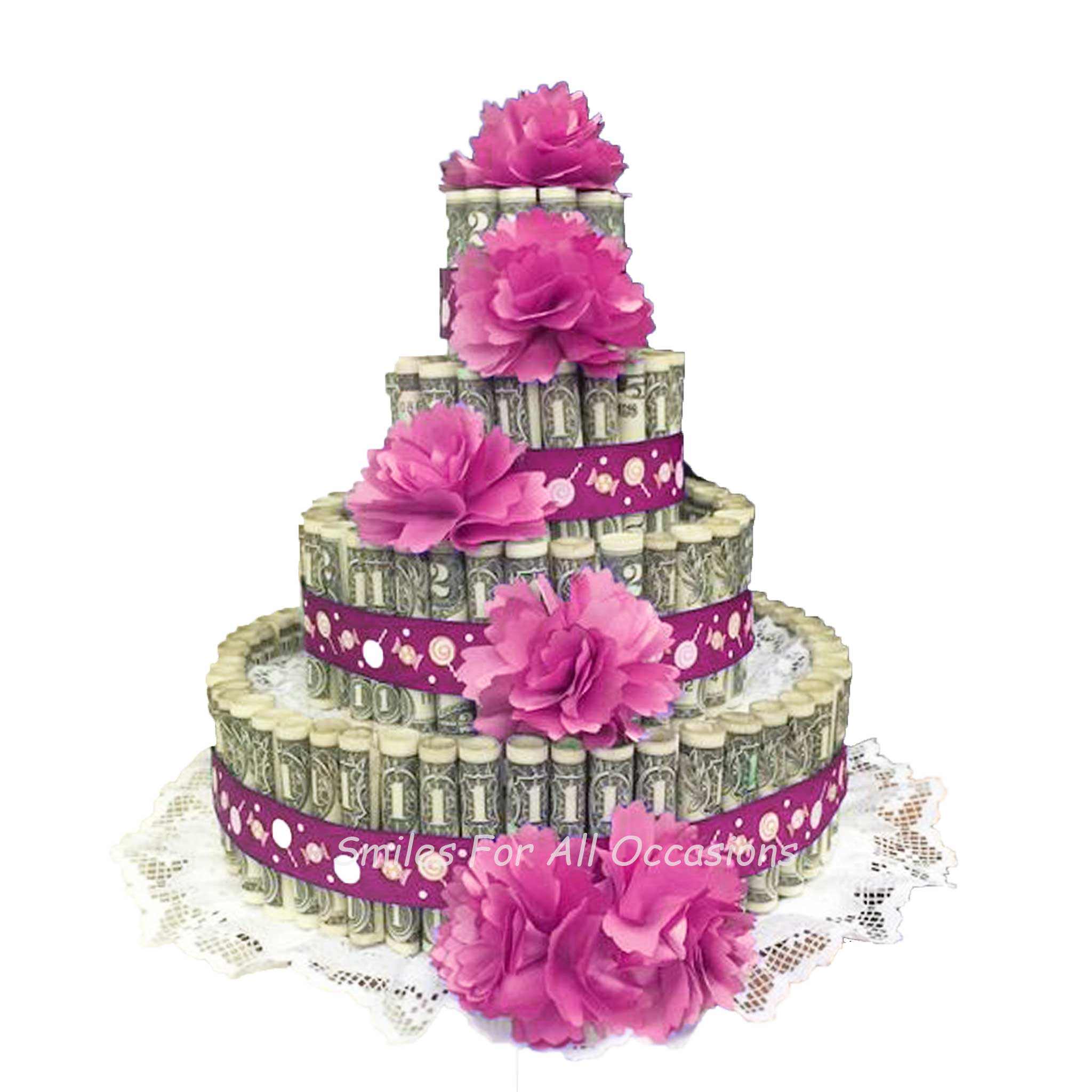 Surprising Cash Money Flower Birthday Cake Smiles For All Occasions Funny Birthday Cards Online Sheoxdamsfinfo
