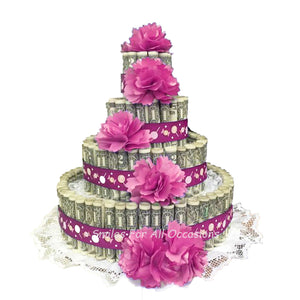 Cash Money Flower Birthday Cake