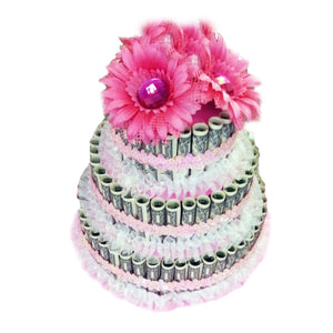 Cash Money Flower Top Cake