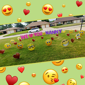 Emoji hearts nanny we love you signs