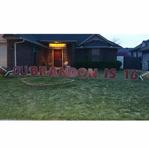 OU 16th Birthday Party Crimson Outdoor Signs