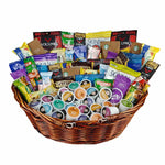 Gift Basket with Healthy Snacks and Coffee Pods
