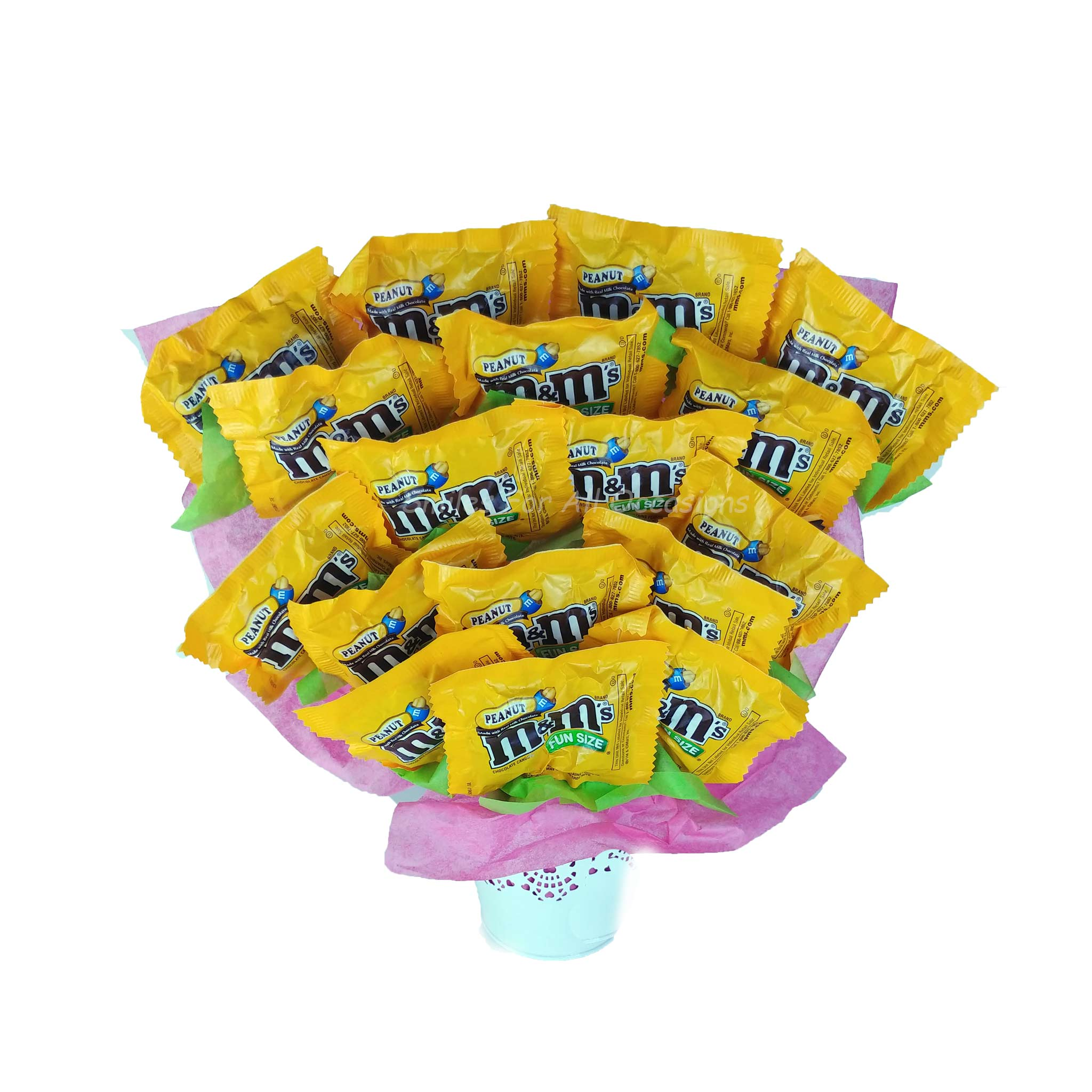 Peanut M&M Candy Arrangement