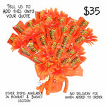 Reese's Candy Bouquet, Orange Candy Wrappers