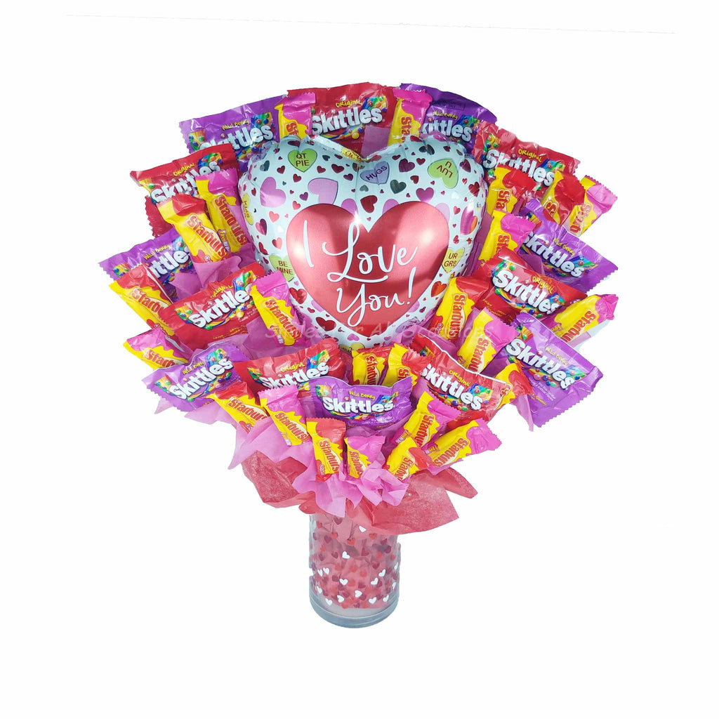 Skittles and Starburst Candy Bouquet
