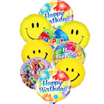 Smiley Theme Birthday Mylar Balloons