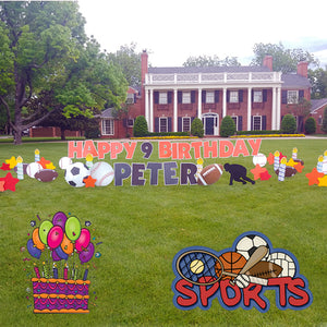 Football Sports Birthday Signs