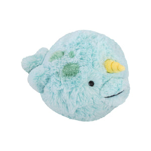 Large Squishable Narwhale Plush Light Aqua