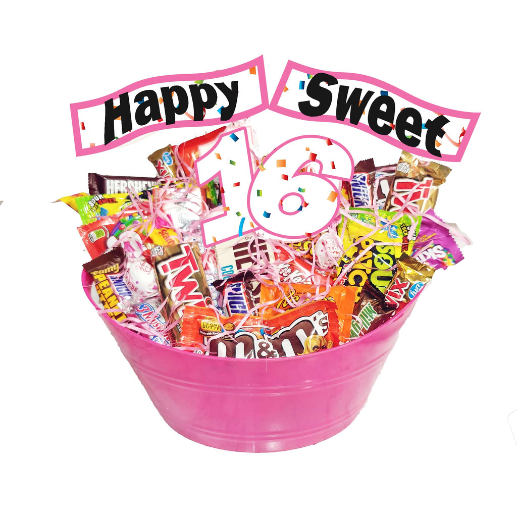 Sweet 16 Candy Gift Basket