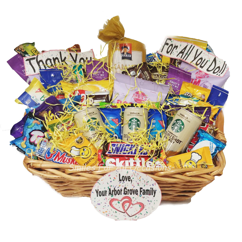 Snack and Candy Deluxe Gift Baskets
