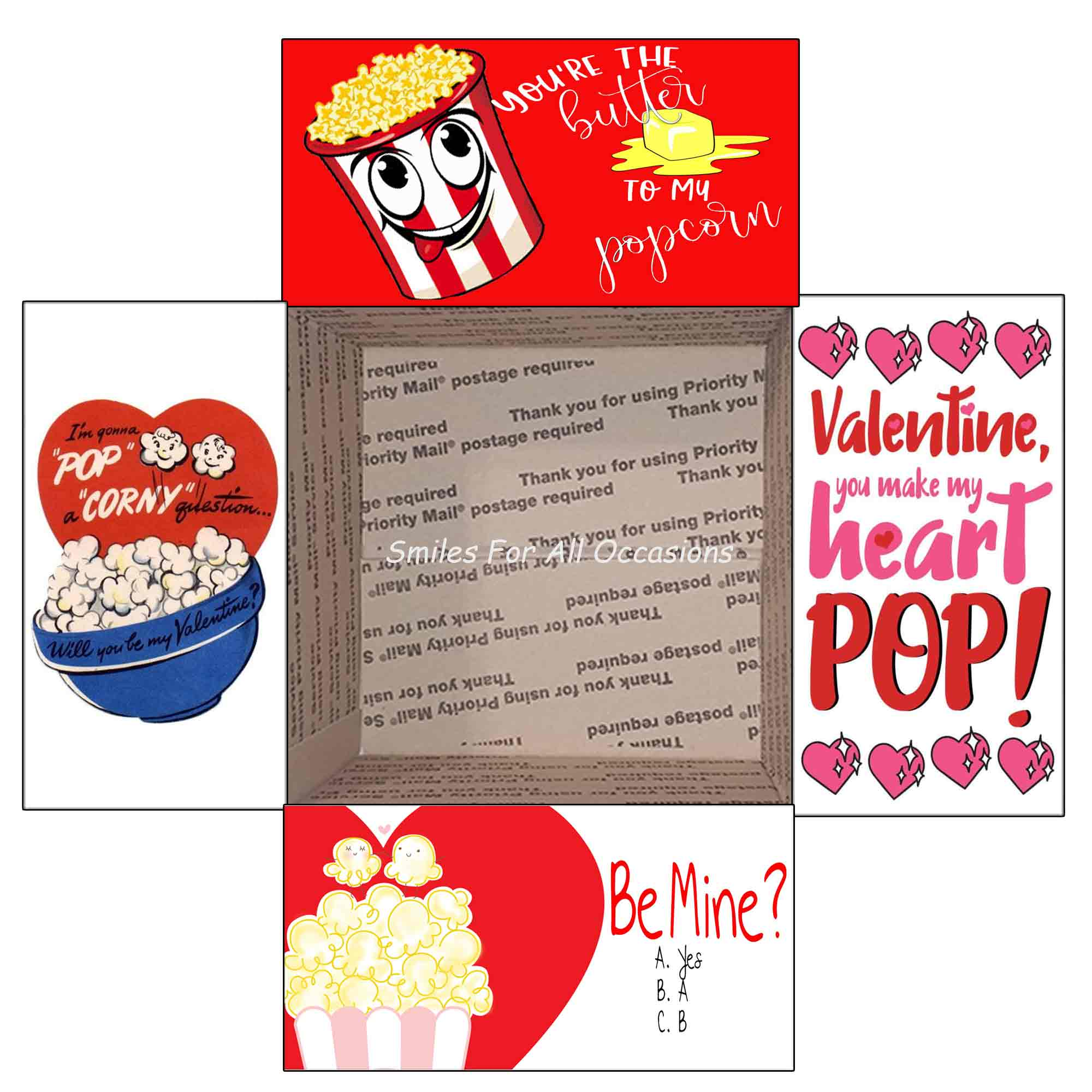 Valentine Popcorn Gift Box Care Package