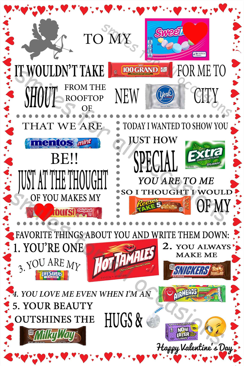 Valentine Candy Cards