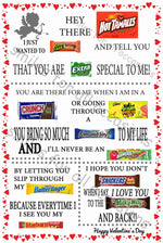 Valentine Candy Card Poster Gift