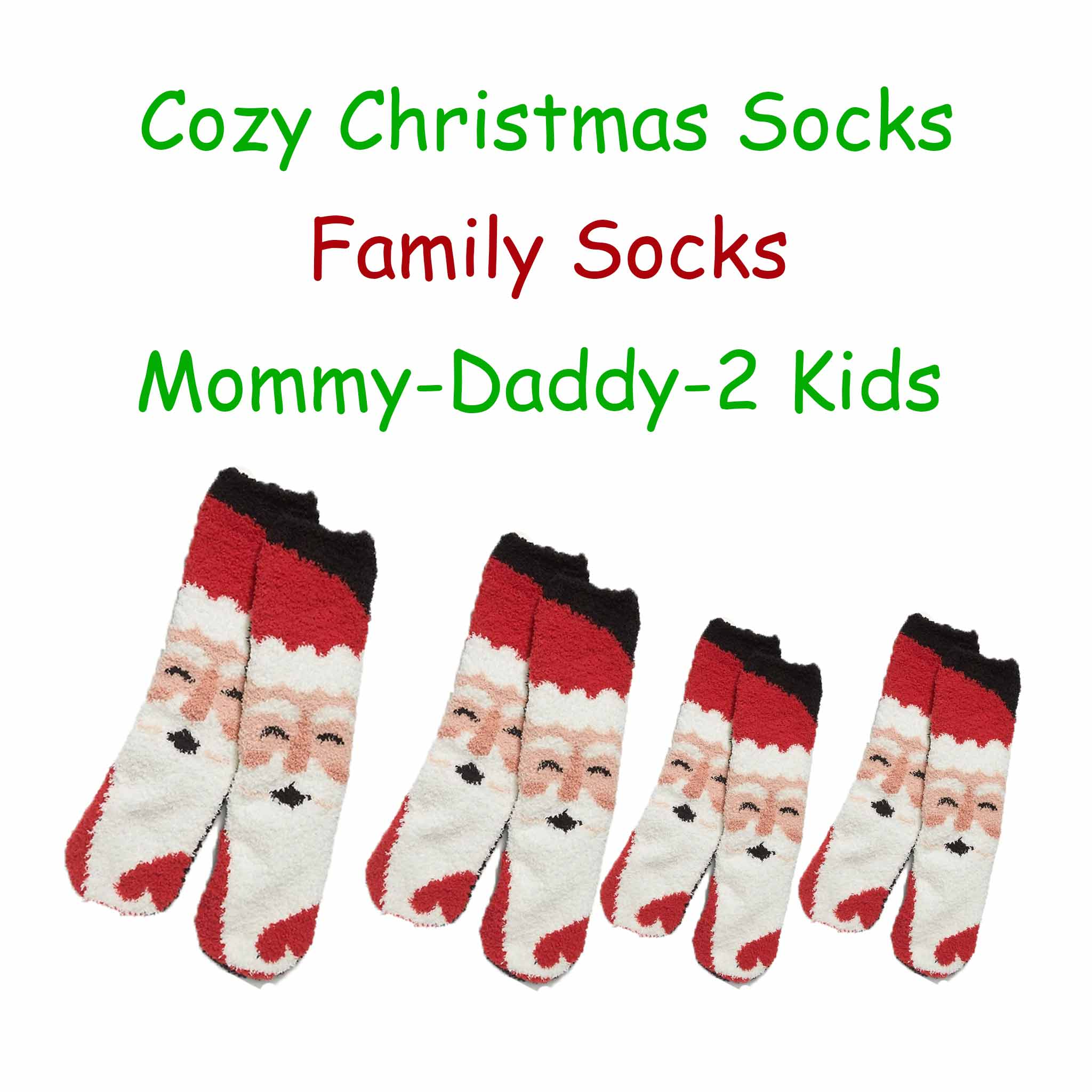 Matching Family Santa Fuzzy Socks