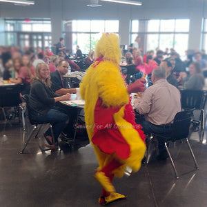 Chicken Costume Dancing in School Lunch Room