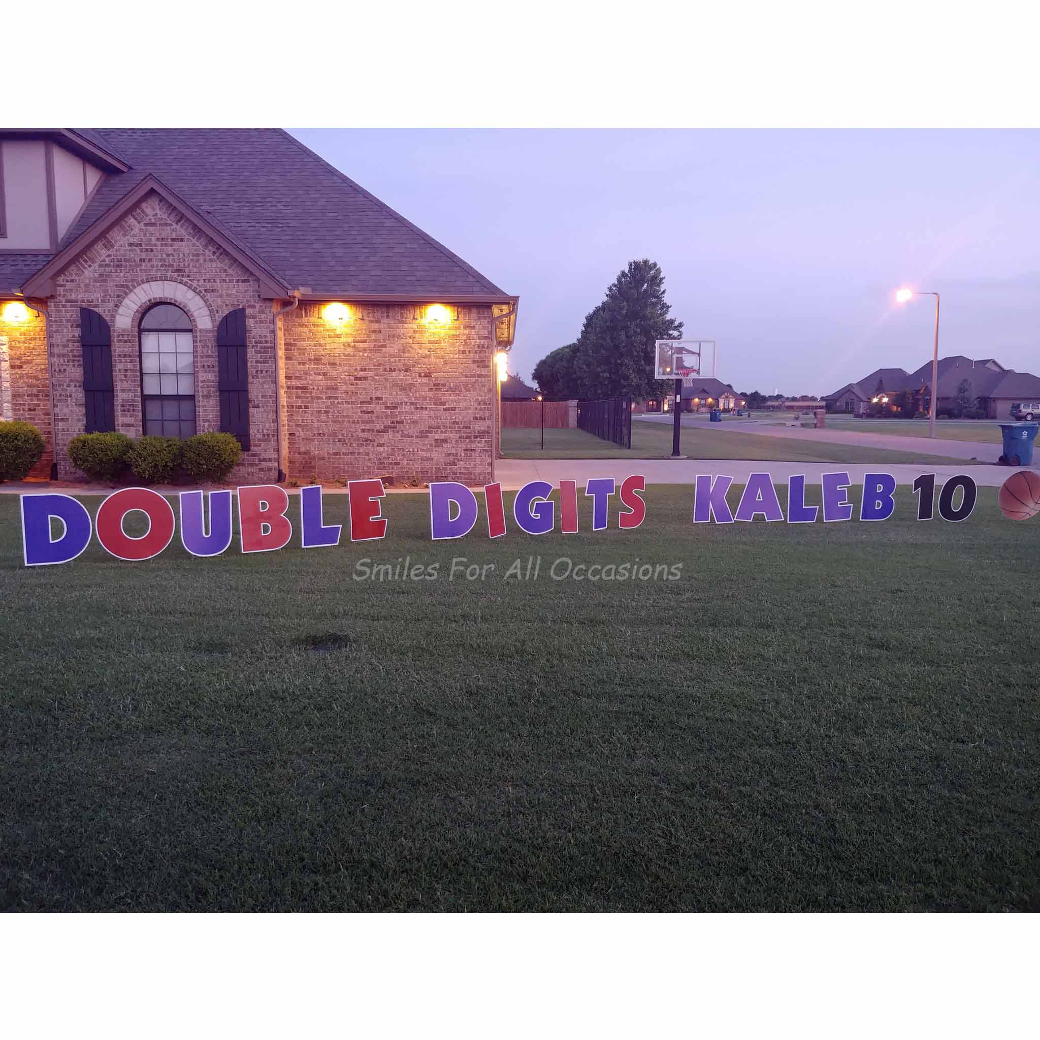 Double Digits Birthday 10th Sports Signs