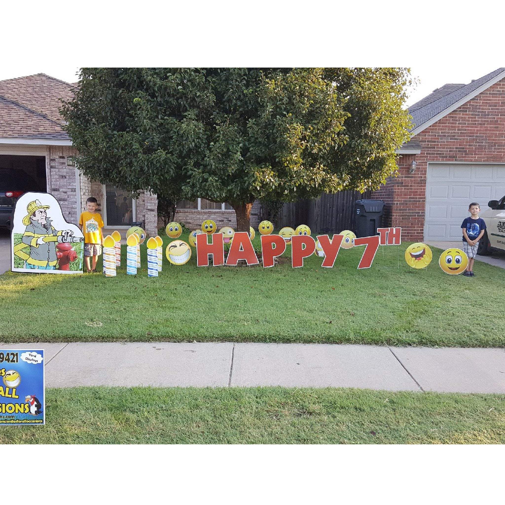 Birthday Yard Signs Candles Colorful Smiles For All Occasions