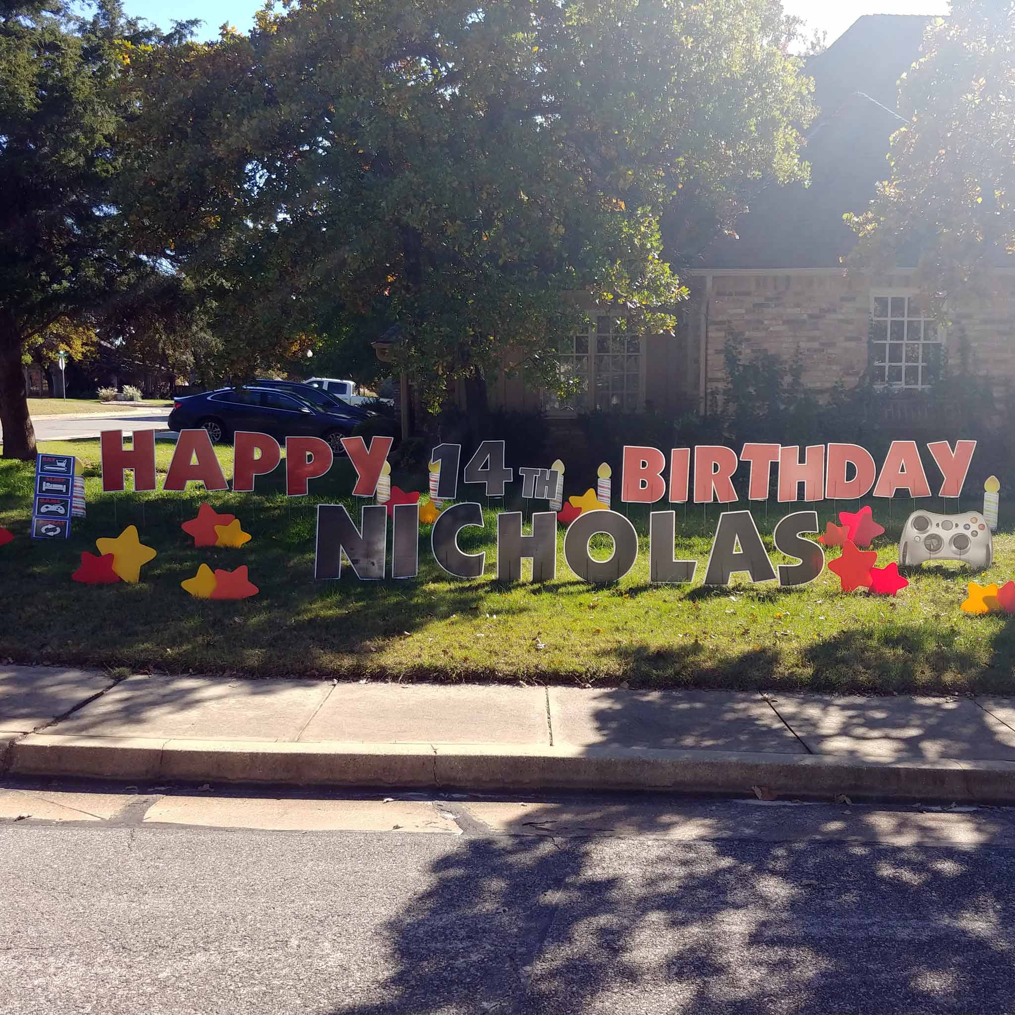 Gaming Birthday Yard Signs