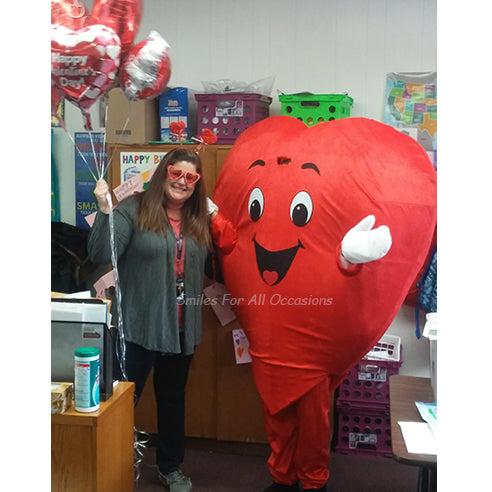 Teacher Birthday Big Red Heart Costume with Balloons