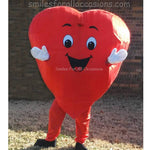Cartoon Heart with Smiley Face Costume Singing