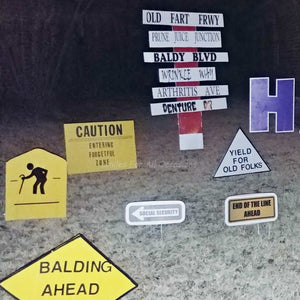 Traffic Signs Over The Hill