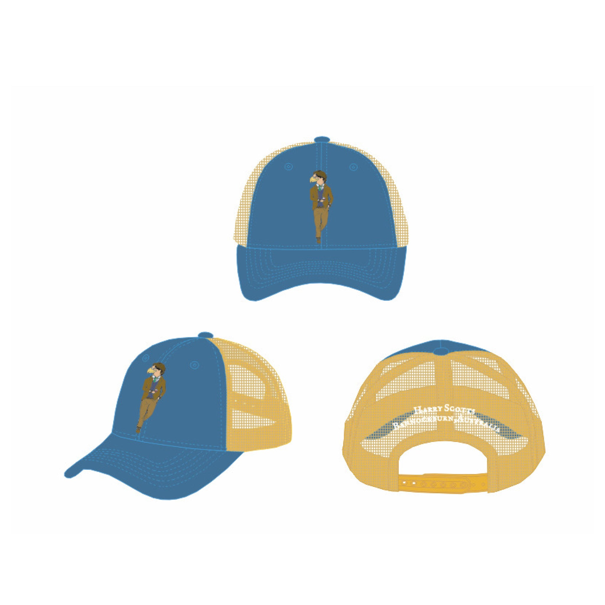 Trucker Blue Front (Free Shipping)