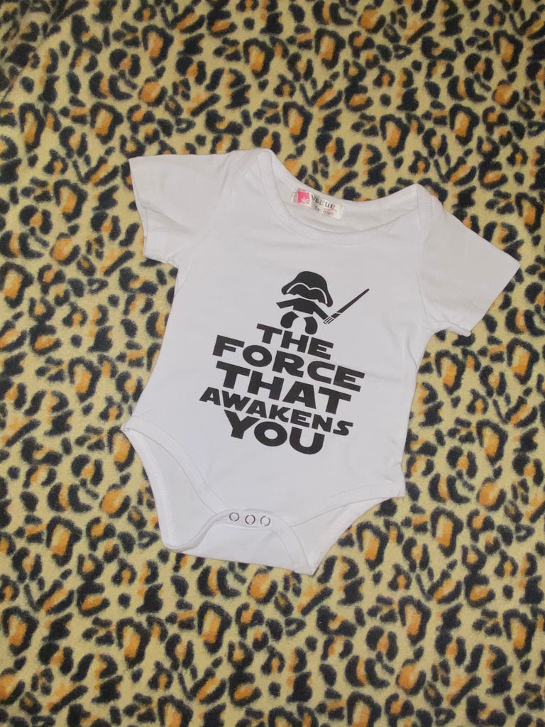 The force that awakens you onesie - 12m