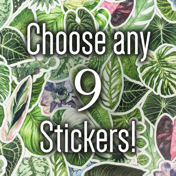 Choose 9 Stickers