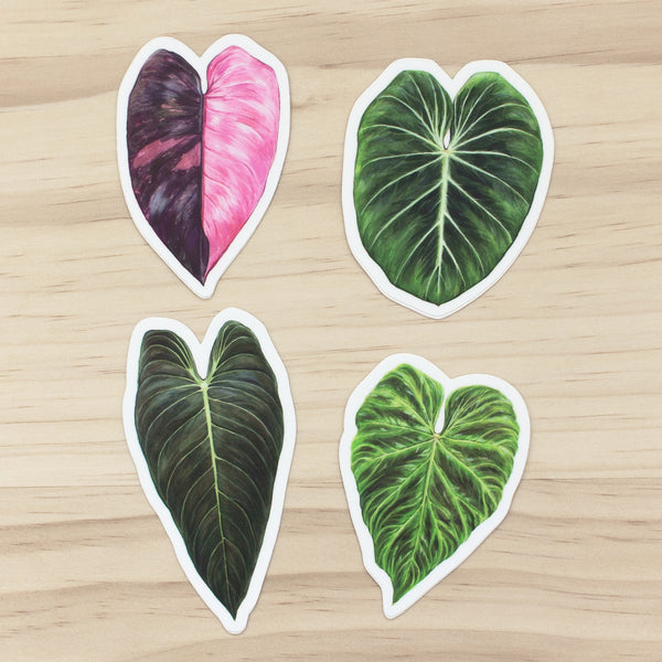 Philodendron Sticker set