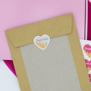 48 x Thank You Candy Hearts Matte Sticker Sheets