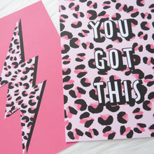 "Load image into Gallery viewer, Leopard Print Lightning Positivity Prints - Set of 4 - 5"" x 7"""