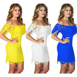 Sexy Off Shoulder Lace Short Dress Sexy Club Dress
