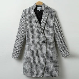 Suit Blazer Women Formal Woolen Jacket