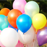 10pcs/lot 10inch Milk White Latex Balloon Inflatable Air Balls Children's Birthday Party Balloons Wedding Decoration Float Balls