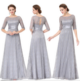 Pretty Long Lace Mother Of Bride Formal Evening Dresses