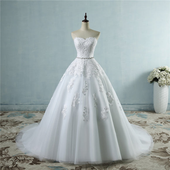 Lace Flower Sweetheart Fashion Wedding Dress
