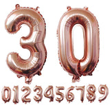 40 inches Rose Gold Number Foil Balloons Large Digit Helium Balloons wedding decorations Birthday Party Supplies Baby Shower
