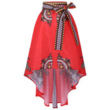 Vintage 3D Print High Waist Umbrella Skirt