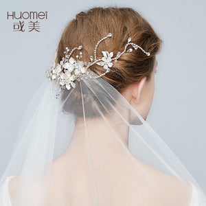 HUOMEI  Wedding Jewelry Bridal Hair Claws Headpiece