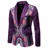 Traditional Mens African Print Suit Jacket