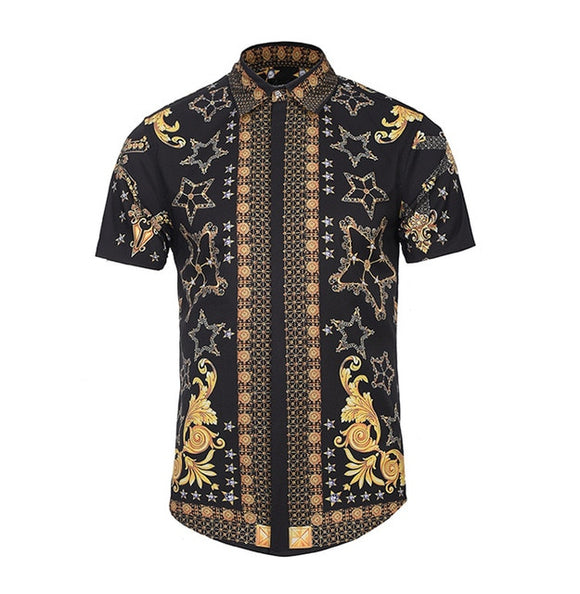 Men's Multicolor Digital Print Shirt